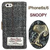 グルマンディーズ ピーナッツ×ハリスツイード iPhone6s/6対応 フリップケース チェック (グレー) SNG-130B