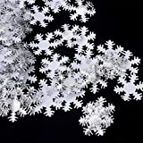 SoarUp 500個 クリスマス 紙吹雪 スノーフレークの形 誕生日 記念日 演出 雰囲気 再使用可能 (#02)