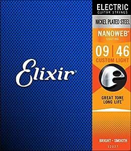 Elixir エリクサー エレキギター弦 NANOWEB Custom Light .009-.046#12027 【国内正規品】
