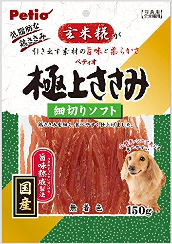 ペティオ (Petio) 犬用おやつ 極上ささみ 細切りソフト 150g