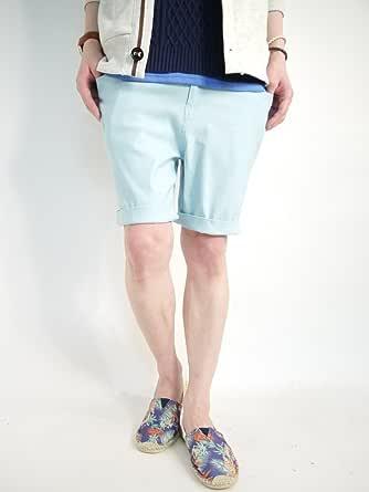 (モノマート) MONO-MART スーパーストレッチ 7分丈 スキニーパンツ サルエル クロップド 丈 カラー ストレッチ メンズ