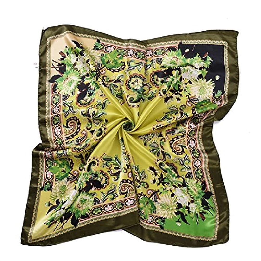 フレームワークフェンスファブリック90 * 90センチメートル、35.4インチ印刷シルクスカーフ大きなスクエアカシューエスニック風ショールスカーフ女性のための薄い