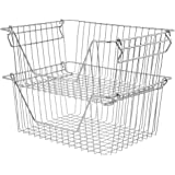 blitzlabs Freezer Baskets, Storage Bins, Refrigerator Organizer Bins with Handles for Closet, Pantry, Bathroom, Laundry, Toy,