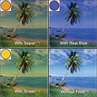 "LEE Filters 4x6"" Landscape Resin Filter Set (Graduated - Hard Edge Real Blue 2, Straw 3,  Sepia 2) [並行輸入品]"