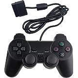 RGEEK PS2 コントローラー playstation2 用 有線コントロ ーラー 人体工学 二重振動