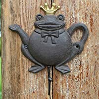 KTYX ヨーロッパとアメリカの錬鉄製の壁の装飾カエルの王子フック コートハンガー