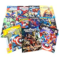 11 Pack DC & Marvel Assorted Colouring & Activity Books Batman Spiderman