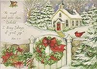 クリスマスのギフトボックス版フォトクリスマスカード–Susan Wingetアートワーク