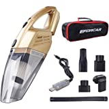 Car Vacuum Cleaner, Cordless Wet/Dry Vacuum Cleaner with 2200mAH Rechargeable Battery (Non Removable & Pre-installed),Carry B