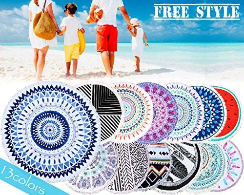 (フリースタイル)FREE STYLE ラウンドビーチタオル ライトグリーン