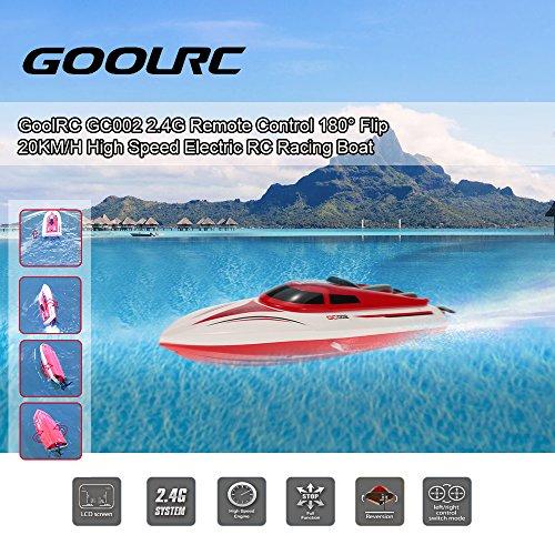 GoolRC GC002 2.4G RCボート高速ラジコン船 リモートコントロール 20km/h安全ストップ機能付
