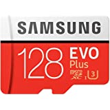 Samsung Micro SDXC 128GB EVO Plus /w Adapter UHS-1 SDR104, Class 10, Grade 1 (U3), Up to 100MB/s read, 60MB/s Write, 10 Years