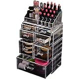 Cosmetic 7 Drawer Makeup Organizer Storage Jewellery Holder Box Acrylic Display 7 Drawers(B)