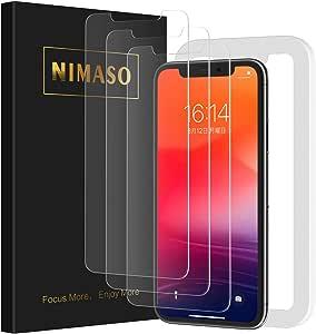 【3枚セット】Nimaso iPhone11 Pro Max/Xs Max(6.5 インチ)用 強化ガラス液晶保護フィルム【ガイド枠付き】 【日本製素材旭硝子製】(アイフォン11 Pro Max/Xs max 用)