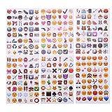 CCINEE 可愛い笑顔 高品質 PVC Emoji Stickers 絵文字 ステッカー 6シール 288Emoji
