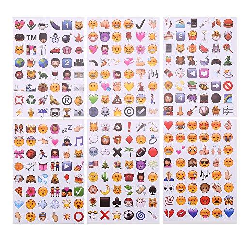 CCINEE 可愛い笑顔 高品質 PVC Emoji Stickers 絵文...