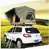 ルーフテント全自動屋外車自立型オフロードハードシェルテント車のテント防水生地広いスペースに3〜5人を収容可能
