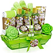 Home Spa Gift Baskets For Women - Bath and Body Gift Basket – Magnolia and Jasmine Home Spa Set, Includes Frag