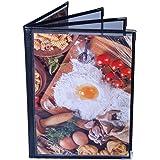 ComBank メニューブック お得な3個セット A4サイズ 4ページ8面 メニュー 透明 ビニール 飲食店の必需品 PVC 黒 ブラック(ブックタイプ4ページ)