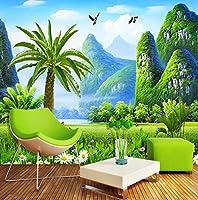 Weaeo カスタム任意のサイズ壁紙の壁紙3D自然の風景壁画リビングルームテレビのソファの背景壁のインテリア-400X280Cm
