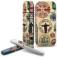 IQOS 2.4 plus 専用スキンシール COMPLETE アイコス 全面セット サイド ボタン デコ ユニーク スタンプ 建物 英国 国旗 005991