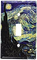 Van Gogh : Starry Nightスイッチプレート 5-S-plate 1