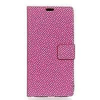 Samsung Galaxy J4 Plus 財布 シェル,Happon スタイリッシュ スリム PU レザー おとこ 立つ 且つ カード ホルダー 財布 電話 カバー バンパー 保護 シェル の Samsung Galaxy J4 Plus -Rosy