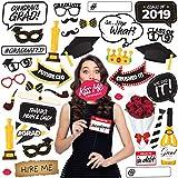 Joyousa 卒業写真ブース小道具 38個セット - 卒業パーティー用品 2019クラスのデコレーションキット - パーティーの記念品&飾り