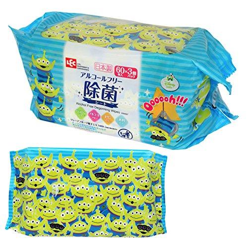 レックディズニー エイリアン ウェットティッシュ 除菌ノンアルコール 1パック(60枚×3個) レック