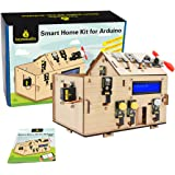 KEYESTUDIO IOT Starter Kit for Arduino R3, Electronics Coding Home Automation Kit DIY for Internet of Things, Wooden House Le