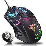 Bengoo ゲーミングマウス マウス 有線 ゲーム用 七色LED付き 光学式マウス(1000/1600/3200/64…