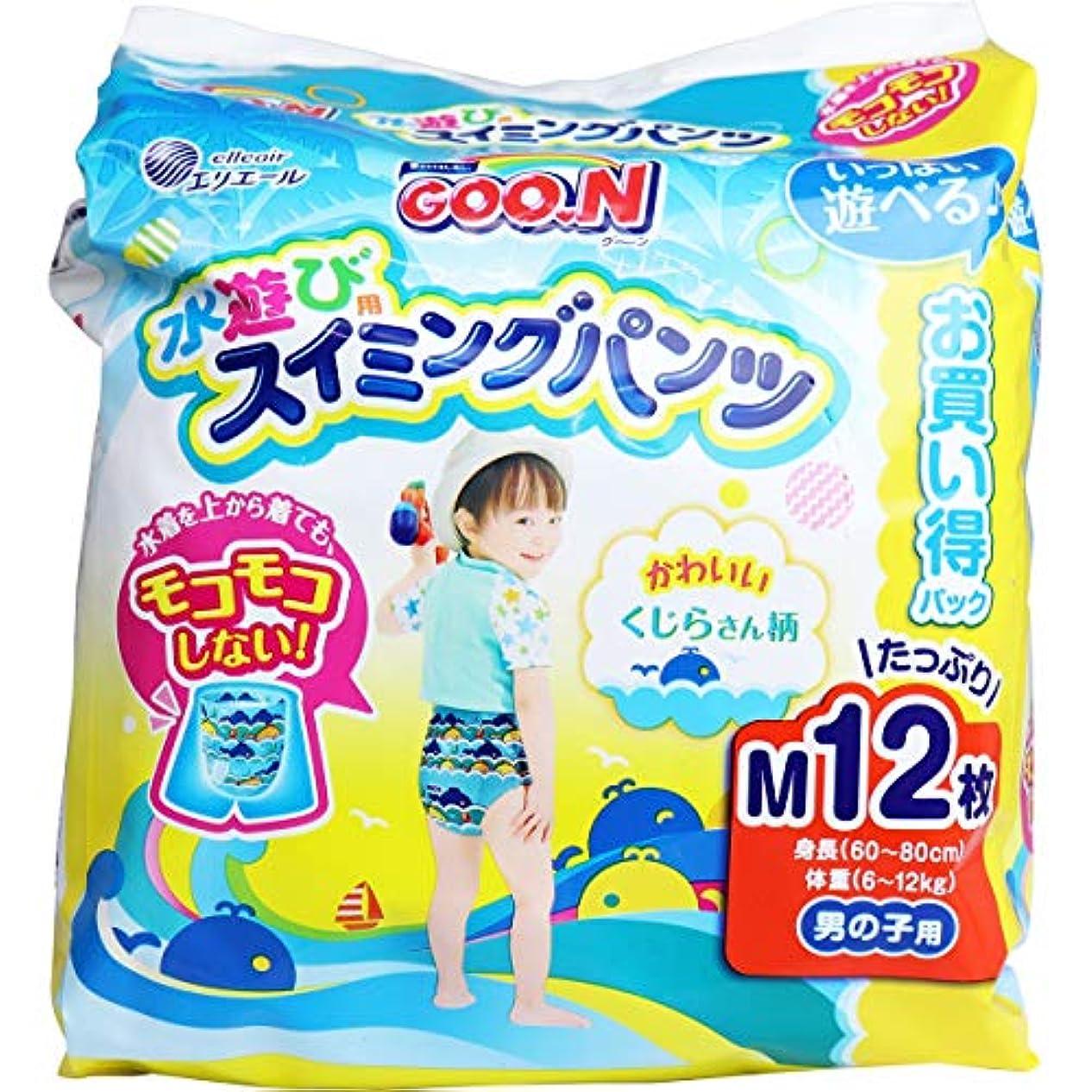 合意雰囲気エントリグーン 水遊び用スイミングパンツ 男の子用 Mサイズ 12枚入×2個セット