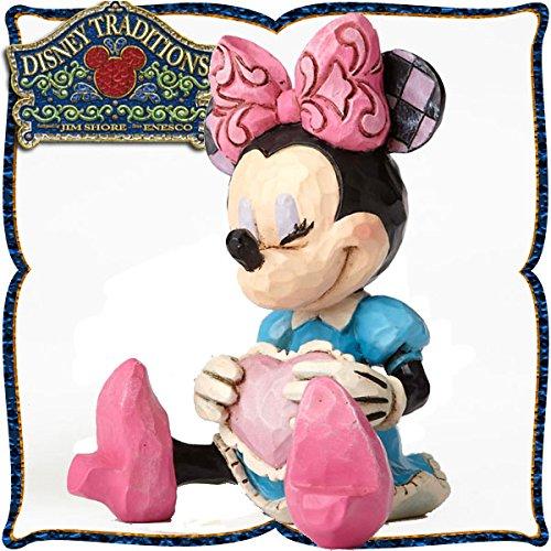 디즈니・tradition 미니어쳐・콜렉션『Mini Minnie Mouse』 미니 마우스 레진제 목각조 피규어