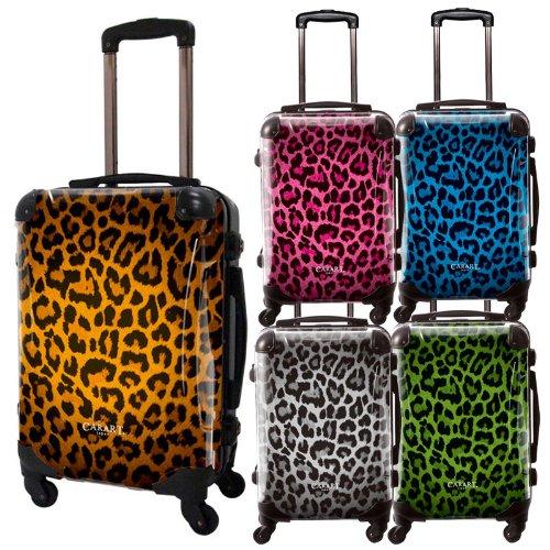 豹柄スーツケース/ベーシック/フレーム4輪/TSAロック/機内持込可能/アニマル/ヒョウ/レオパード/キャラート/ゴールド シルバー ピンク グリーン ブルー/CRA01-003