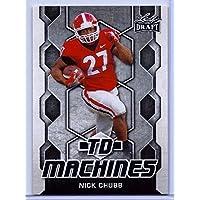 リーフニック?Chubb 2018 1st Ever Printed TDマシンルーキーカード。Georgia Bulldogs 。