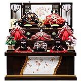 【雛人形収納飾】【三段飾】三五親王芥子官女:春奈雛:伏見屋監修【雛人形】