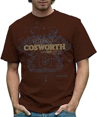 RETRO GP コスワース・DFV Tシャツ ブラウン COSWORTH DFV Mens T-shirt Brown