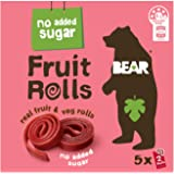 BEAR Real Fruit Rolls - Strawberry - Natural Fruit Snack - No Added Sugar - Gluten Free Snack - Vegan Fruit Snack - Healthy O