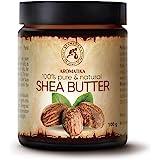 African Shea Butter 100 g - Butyrospermum Parkii Butter - Cold Pressed Shea Butter for Beauty - Massage - Face & Body Moistur