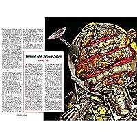 SCIENCE FICTION FUTURE DESIGN MOON SHIP CUTAWAY SPACE ART PRINT POSTER 30X40 CM 12X16 IN 科学フィクション設計月船スペースアートプリントポスター