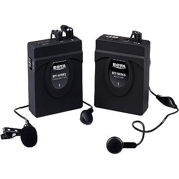 BOYA BY-WM5 Pro ワイアレス マイク 一眼レフカメラ DV ビデオカメラ オーディオレコーダー対応