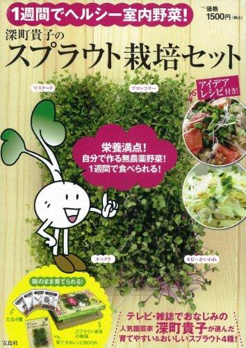 1週間でヘルシー室内野菜! 深町貴子のスプラウト栽培セット