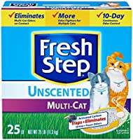 Fresh Step Litter Multi-Cat Scoopable, Unscented - 25 lb by Fresh Step