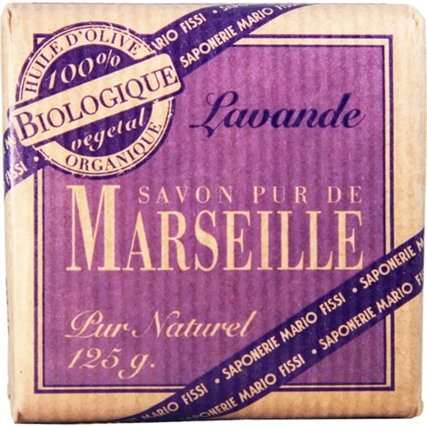 カヌーアンビエント花輪Saponerire Fissi マルセイユシリーズ マルセイユソープ 125g Lavender ラベンダー