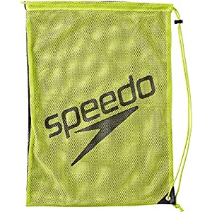 Speedo(スピード) プールバッグ プールバッグ メッシュバッグ Lサイズ SD96B08 クリアグリーン×ブラック(CK)