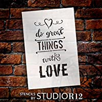 "Do Great Things With Love – Wordステンシル – 4 "" x 6 "" – stcl1783 _ 1 – By Studio r12"