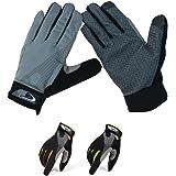 Schlegel トレッキング グローブ 通気性 伸縮素材 スマホ対応 春夏 手袋 クライミング ウォーキング サイクリング