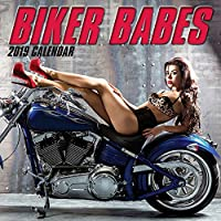 2019 Wall Calendar - Biker Babes Calendar,12 x 12 Inch Monthly View,16-Month,Sexy Ladies Theme,Includes 180 Reminder Stickers [並行輸入品]