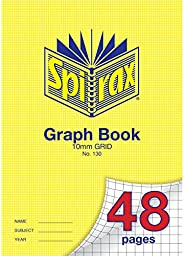 Spirax 130 A4 Graph Book with 10MM Grid (48 Pages)