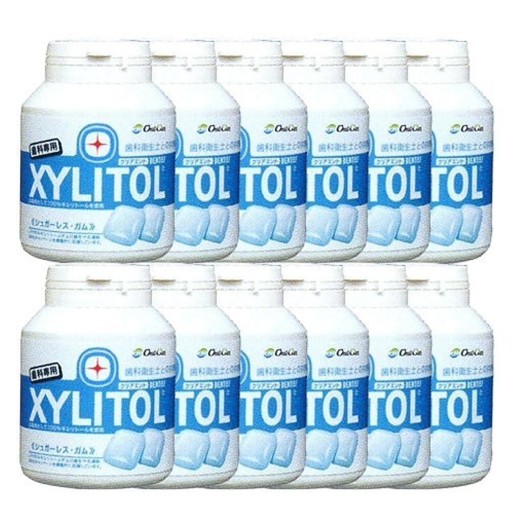 無許可飛行場取り除く歯科専売品 キシリトール ガム ボトル タイプ 90粒×12本 クリアミント キシリトール 100%